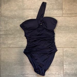 J. Crew Ruched One Shoulder Swimsuit